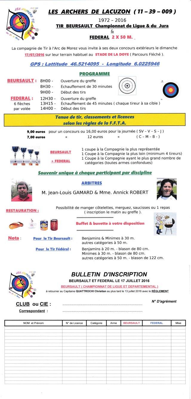 Inv. Beursault + Fédral à MOREZ